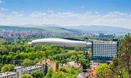 Arena Stadiun de Cluj en la ciudad de Cluj Napoca Foto de archivo libre de regalías