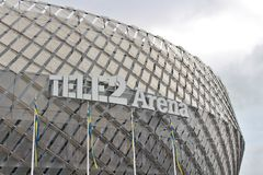 Arena Tele2 immagine stock libera da diritti