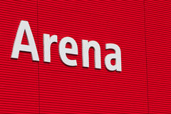 Arena text on the wall. Stock Photography