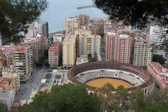 Arena for toreros (bullring). Arena for toreros in the city of Malaga Stock Photo