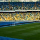 Arena vacía enorme del fútbol Imagen de archivo libre de regalías