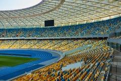 Arena vacía enorme del fútbol Foto de archivo libre de regalías