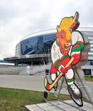 Arena van Minsk, iihf-2014, Wit-Rusland Stock Fotografie