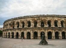 Arena van Nîmes stock foto's