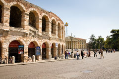 Arena of Verona. The arena is an ancient roman amphitheatre in the city of Verona in northern Italy Royalty Free Stock Images
