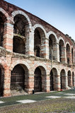 Arena Verona amfiteater i Italien Arkivfoto