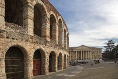 Arena Verona, antyczny rzymski amphitheatre Włochy Verona areny areny di Verona jest Romańskim amphitheatre w piazza staniku obrazy stock