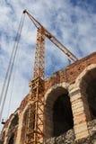 Arena Verona con la gru Immagine Stock