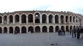 Arena. The Arena of Verona on holiday Stock Image