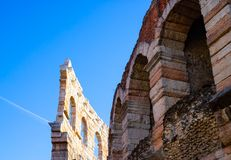 Arena in Verona at the sunny day stock images