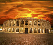 Arena of Verona at Sunset - Italy Stock Photos