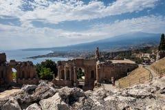 Arena w Taormina obraz stock