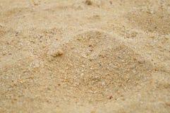 Arena y hoyo de arena Imágenes de archivo libres de regalías