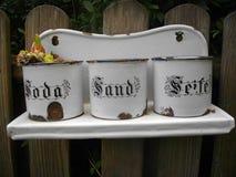 Arena y jabón de la soda Imágenes de archivo libres de regalías