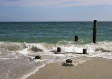 Arena y mar Foto de archivo libre de regalías