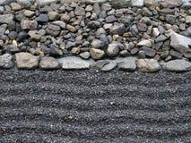 Arena y piedra Fotografía de archivo