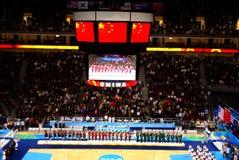 arenabasketbeijing olympic satt service royaltyfria bilder