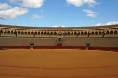 arenabullfight sevilla arkivfoto