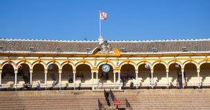 arenabullfight seville spain royaltyfri fotografi
