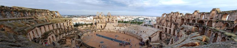 arenacolosseum tunis Fotografering för Bildbyråer