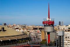 Arenagalleria Barcelona royaltyfri foto