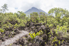 Arenal άποψη ηφαιστείων στη Κόστα Ρίκα Στοκ Εικόνες