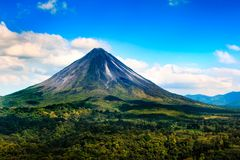Arenal ηφαίστειο Κόστα Ρίκα Στοκ φωτογραφία με δικαίωμα ελεύθερης χρήσης