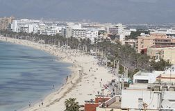 Arenal παραλία στη Μαγιόρκα, Ισπανία Στοκ Εικόνα