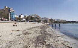 Arenal παραλία στη Μαγιόρκα, Ισπανία Στοκ Φωτογραφίες
