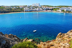 Arenal d'es Castell beach in Menorca, spain Royalty Free Stock Photography