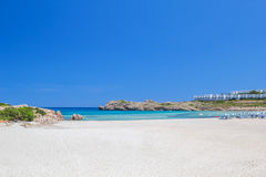 Arenal de Son Saura beach at Menorca island. Royalty Free Stock Photos