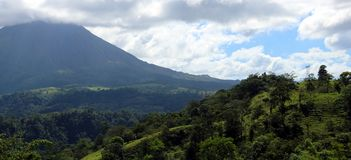 Arenal jungle volcano in Costa Rica Central America volcan active Royalty Free Stock Images