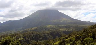 Arenal jungle volcano in Costa Rica Central America volcan active Royalty Free Stock Photos
