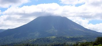 Arenal jungle volcano in Costa Rica Central America volcan active Royalty Free Stock Photography