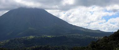 Arenal jungle volcano in Costa Rica Central America volcan active Royalty Free Stock Image