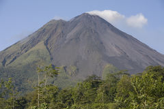 Arenal Volcano. In Costa Rica under clear skys Stock Photo
