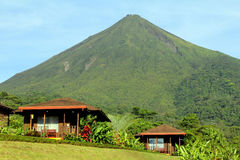 Arenal Volcano cabins Royalty Free Stock Images