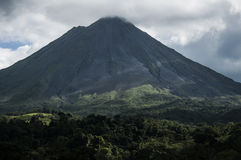 Arenal Volcano from La Fortuna, Costa Rica Royalty Free Stock Photos