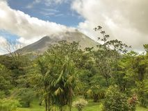 Arenal Volcano. A view from Arenal Volcano observatory lodge, Costa Rica. April 2017 Stock Photography