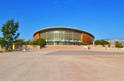 Arenan för Faliro sportpaviljong - del av det olympiska komplexa bekant Faliro för kust- zon som Taekwondo stadionAten Grekland Royaltyfri Bild