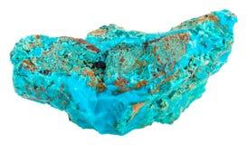 Arenaria cuprifera sulla gemma blu di Chrysocolla Fotografie Stock