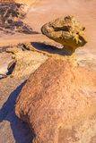 Arenarie erose Mazarron di Bolnuevo a Murcia spagna fotografie stock libere da diritti