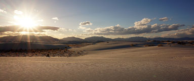 Arenas blancas, New México Imagen de archivo libre de regalías