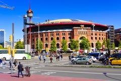 Arenas da praça de touros Barcelona, Catalonia, Spain Imagens de Stock Royalty Free