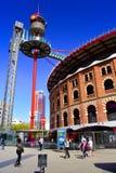 Arenas da praça de touros Barcelona, Catalonia, Spain Fotografia de Stock