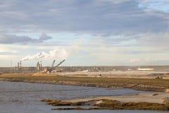 Arenas de aceite, Alberta, Canadá Foto de archivo