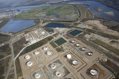 Arenas de aceite de McMurray en Alberta, Canadá Fotografía de archivo libre de regalías