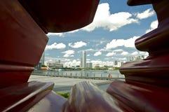 Arenas de la bahía del puerto deportivo Foto de archivo