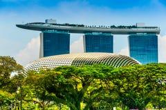 Arenas de la bahía del puerto deportivo, Singapur, Imagen de archivo libre de regalías