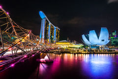 Arenas de la bahía del puerto deportivo, Singapur, Foto de archivo